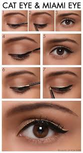 do a double cat eye with a shimmery gold color for a super fun look liquid eyeliner tips and tricks