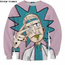 <b>PLstar Cosmos</b> rick and morty Cartoon Sweatshirt <b>Harajuku style</b> ...