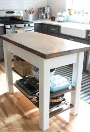 countertops dark wood kitchen islands table:  kitchen medium size small white kitchen table with bottom rack set beside blue striped rug also