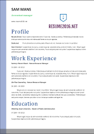 accountant resume sample •accountant resume template