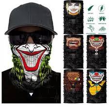 3D Seamless Skull Balaclava Neck Face Mask Halloween ... - Vova
