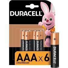 <b>Батарейки</b> щелочные <b>Duracell</b> Basic ААA/LR03-6BL 6 штук