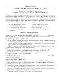 Sample Resume  Resume For Sales Rep With Equipment