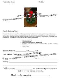 fundraising program wreath fundraiser school fundraiser wreath flyer tree flyer centerpiece flyer
