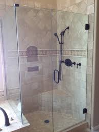 mounted tile ceramic bathroom wood sliding glass shower doors natural brown cherry wood wall mounted cabi