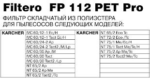 Купить аксессуар для пылесоса <b>Filtero FP 112</b> PET Pro white ...