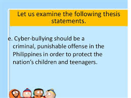 good thesis bullying FAMU Online Thesis statements for essays on bullying mfacourses web fc com FC