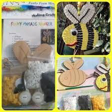 Children's Craft Kit, Wooden Bumble Bee Funky <b>Eva</b> Foam <b>Mosaic</b> ...
