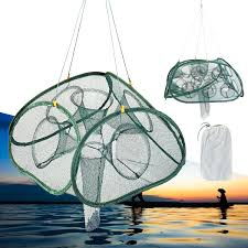 Automatic Foldable Fishing Net <b>5/9</b>/17/21 Hole Aquatic Minnow ...