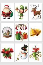<b>Christmas cartoon Christmas decoration</b> elements | <b>Christmas</b> ...