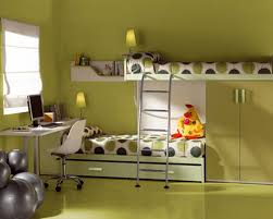 beautiful green wood glass stainless unique design interior kids bedroom ideas bunk bed ladder mattres cushion chair wooden furniture beds