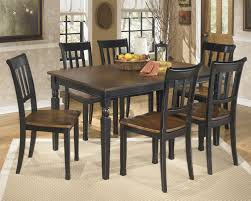 Cottage Style Kitchen Tables Ashley Owingsville 7 Piece Two Tone Finish Dining Table And Chairs Set