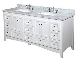 white double sink bathroom kitchen bath collection kbcwtcarr abbey bathroom vanity with marble countertop cabinet with soft close function and undermount ceramic sink