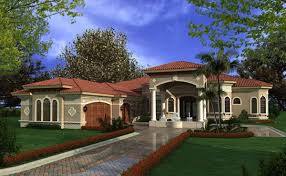Luxury One Story Home Plans and Luxury Mediterranean Home Plans