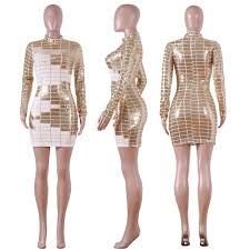 <b>XURU 2019</b> Autumn and Winter Sequin Dress <b>New</b> Women's Shiny ...
