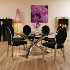 dining sets seater:   seater round glass dining table dining set black glass round table mtr  luxury blackchrome