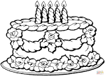 Торт раскраска распечатать