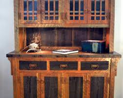 rustic hutch dining room: rustic barnwood buffet barnwood hutch dining room buffet china cabinet rustic hutch