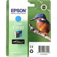 Оригинальный <b>картридж Epson</b> T1592 (голубой) Голубой (<b>Cyan</b> ...