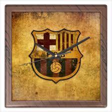 """Часы квадратные из пластика (под дерево) """"<b>Барселона</b> ..."""
