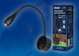 <b>Бра</b> (UL-00004240) <b>Uniel ULT</b>-<b>F22</b>-<b>3W</b>/<b>4000K</b> IP20 Black – цена ...