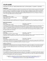 nanny objective on resume sample nanny resume hair stylist child care resume cover resume for childcare
