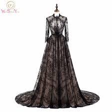 <b>Walk Beside You</b> Elegant Black Champagne Evening Dresses Lace ...