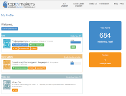 topcvmakers com cv resume builder job match profile