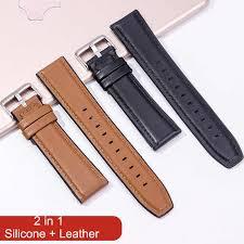 22mm Watch Strap for Huawei Watch GT 2 46mm <b>Genuine leather</b> ...