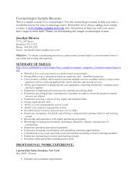 cosmetology resume sample template cosmetology resume sample