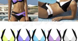 Sexy <b>Women Bikini Set Swimwear</b> Bandage Push Up Padded ...