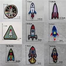 Hot sale 1PCS <b>UFO Alien Patches</b> Embroidery <b>Iron on Patches for</b> ...