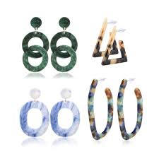 Jovivi Women Mottled Hoop Drop Dangle <b>Earrings</b> Set Fashion ...