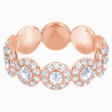 Angelic <b>Кольцо</b>, Белый Кристалл, Покрытие оттенка розового ...
