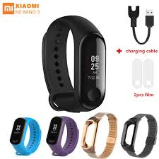 Online Shop <b>MiBand 3</b>/4 replacement metal strap Stainless Steel ...