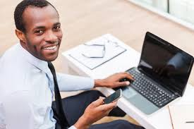 interview spark leading 1 on 1 mock job interview prep coaching smiling man on laptop