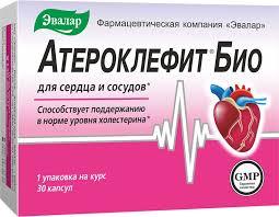 "Для сердца и сосудов Эвалар ""<b>Атероклефит Био</b>"", <b>30</b> капсул ..."