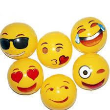 2019 <b>Hot</b> 30cm Emoji Face Beach Balls Inflatable Ball Round For ...