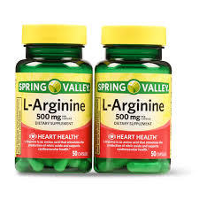 Spring Valley <b>L</b>-<b>Arginine Capsules</b>, <b>500mg</b>, 50 Count, 2 Pack ...