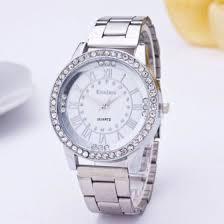 Shop Geneva Luxury <b>Women's Girl's</b> Crystal <b>Stainless</b> Steel Quartz ...