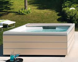 Above-ground hot tub / rectangular / <b>2</b>-<b>person</b> / <b>outdoor</b> - SEASIDE ...
