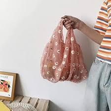 <b>Women</b> Tote,Daisy Embroidery Handbag,Fashion <b>Portable</b> ...