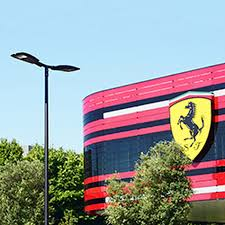 project in maranello italy with italo the luminaire for a safer and efficient led aec eco lighting