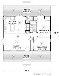 Cottage Plan  Square Feet  Bedrooms    Bathrooms     Floor plan