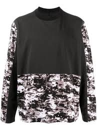 White Mountaineering <b>camouflage colour-block sweatshirt</b>