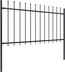 Festnight Ornamental Security Palisade Fence with ... - Amazon.com