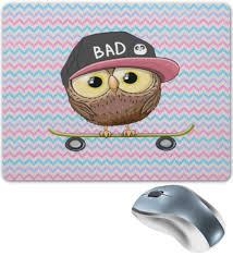 Коврик для мышки <b>Сова и скейт</b> #2337447 от ZoZo