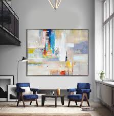 Handmade Extra <b>Large</b> Contemporary Painting, Huge <b>Abstract</b> ...