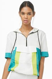 Colorblock <b>Short</b>-Sleeve <b>Anorak</b> | Forever 21