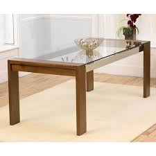 lyon washed oak glass top dining table and upholstered dining chairs ofs buy zina solidwood side table